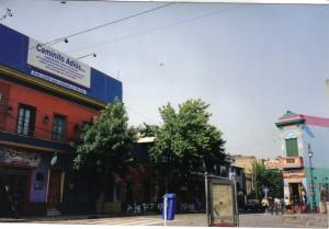 Mi primer día de libertad, ya estoy en Argentina, justo en el barrio del Caminito